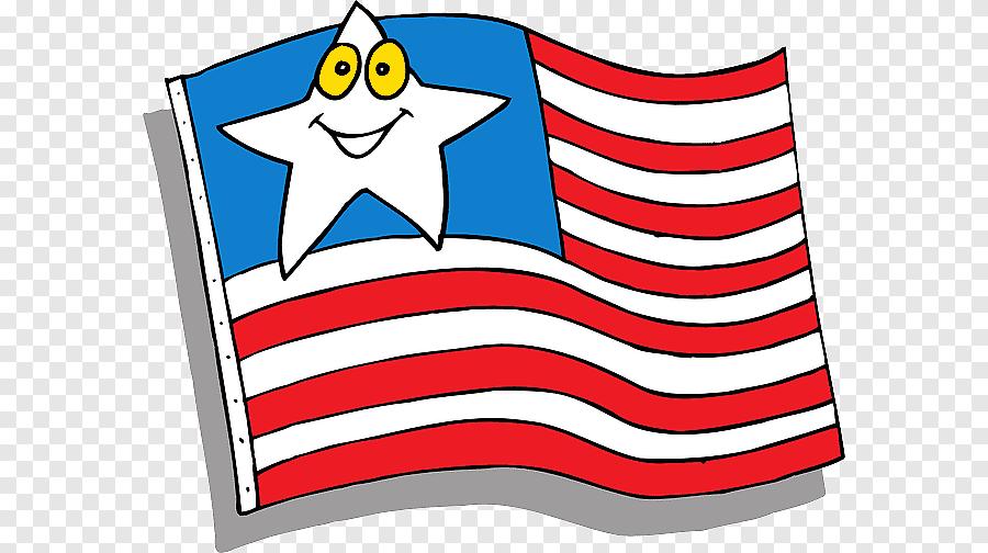Bendera Melambai Melalui Clip Art Animasi